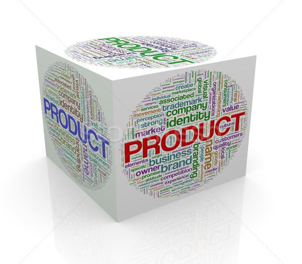 3d cube wordcloud word tags  of product Stock photo © nasirkhan