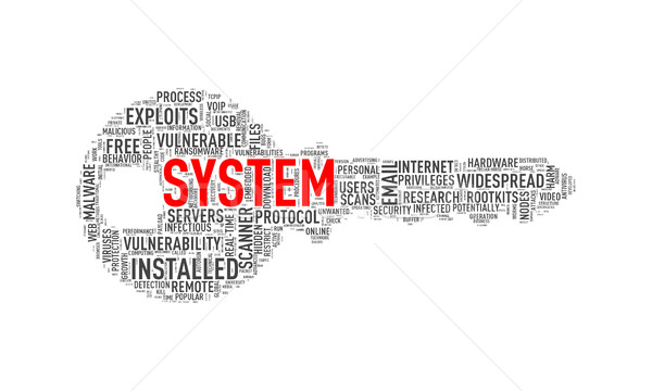 Key shape wordcloud tag system Stock photo © nasirkhan