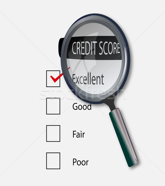 Excellent credit score Stock photo © nasirkhan