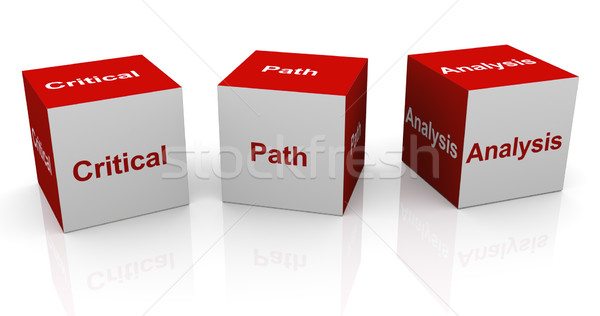 Critical path analysis Stock photo © nasirkhan