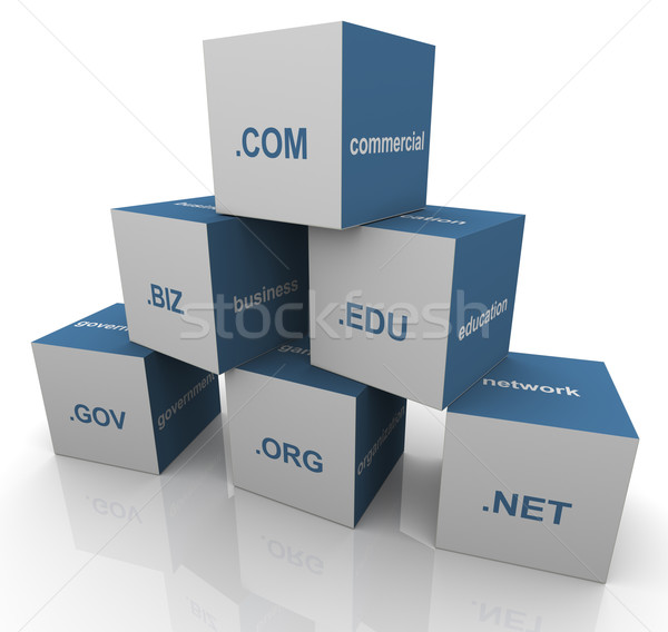 3d domain extension pyramid Stock photo © nasirkhan