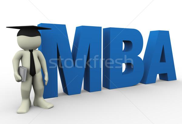 Meester business administratie 3d render man woord Stockfoto © nasirkhan