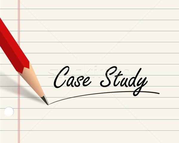 Pencil paper - case study Stock photo © nasirkhan