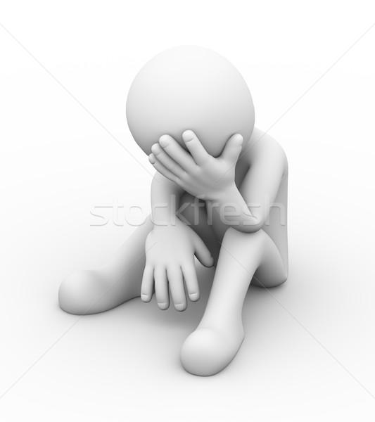 3d depressed sad person  Stock photo © nasirkhan