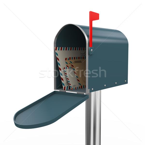 3D mailbox 3d render business vak Stockfoto © nasirkhan