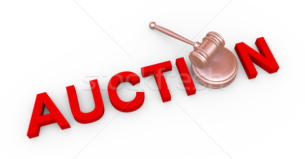 3d auction and gavel Stock photo © nasirkhan