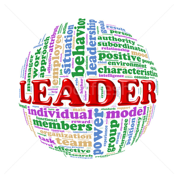 Palabra etiquetas pelota líder ilustración Foto stock © nasirkhan