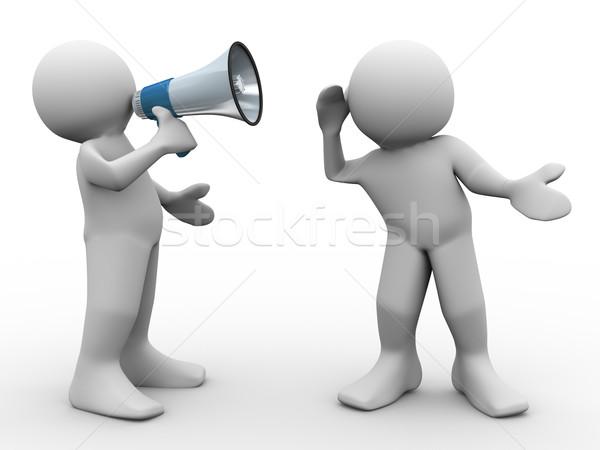 Zdjęcia stock: Mężczyzna · 3d · 3d · człowiek · słuchania · działalności · mówić