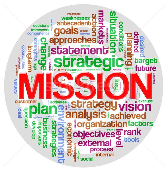 Missie woord tag illustratie web Stockfoto © nasirkhan