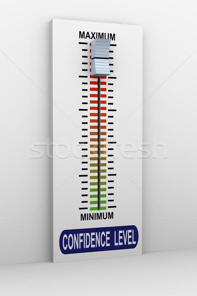 3D смеситель кнопки рост уверенность уровень Сток-фото © nasirkhan