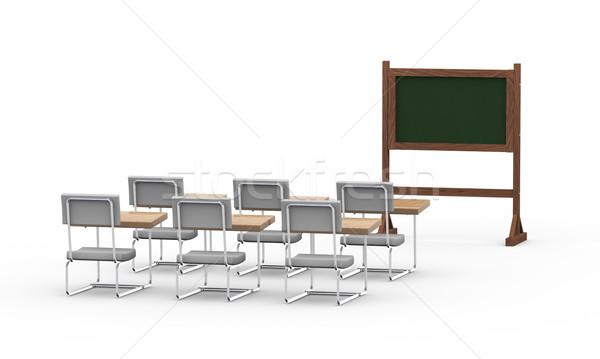 Zdjęcia stock: 3D · pusty · klasie · szkoły · spotkanie