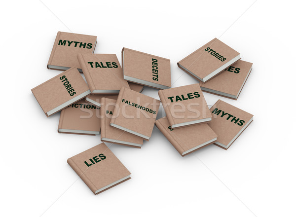 3d myth lies books Stock photo © nasirkhan