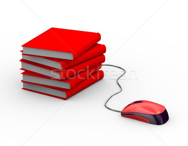 3D mouse allegata libri mouse del computer Foto d'archivio © nasirkhan
