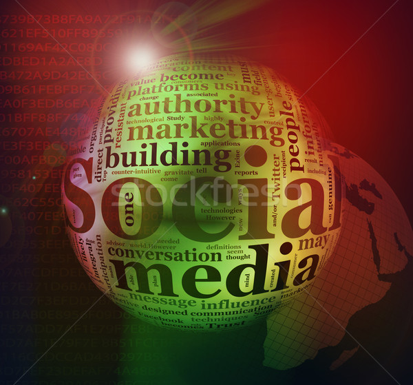 Abstract Social media background Stock photo © nasirkhan