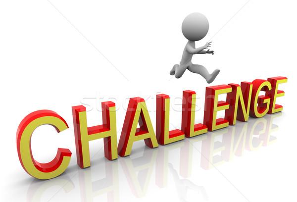 3d challenge jump Stock photo © nasirkhan