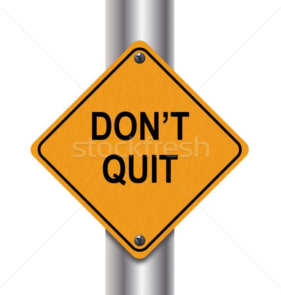 3d don't quit Stock photo © nasirkhan