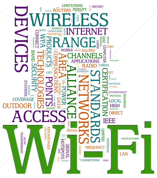 Wi-fi wordcloud Stock photo © nasirkhan