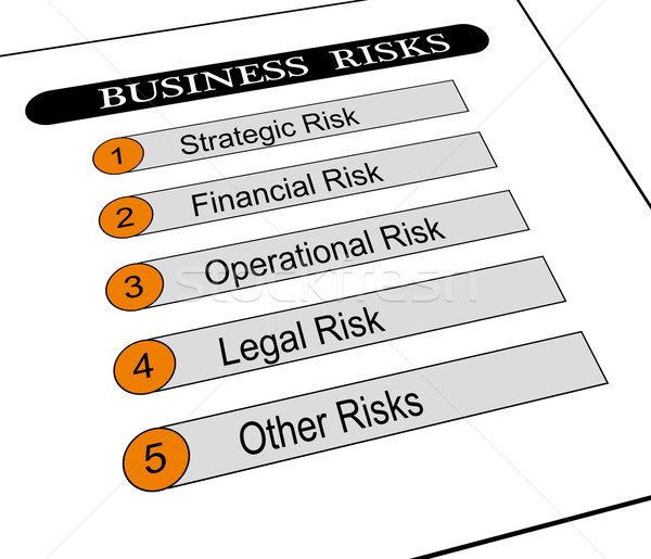 Illustration of business risks classification Stock photo © nasirkhan