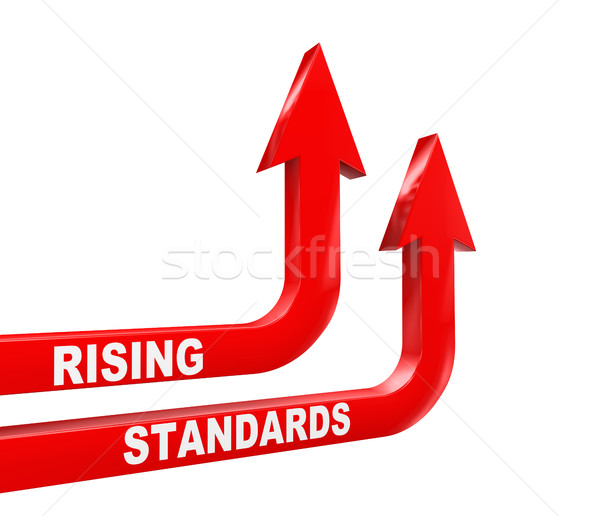 3d concept of rising standards arrow Stock photo © nasirkhan