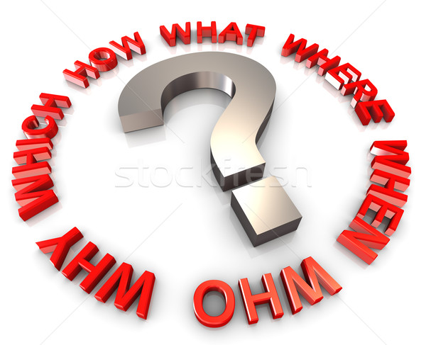 3d question words Stock photo © nasirkhan