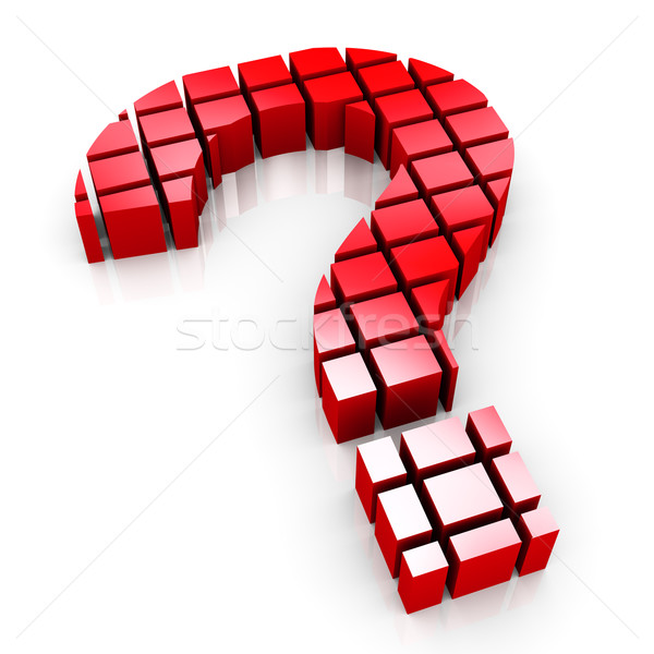 3d blocks question mark symbol Stock photo © nasirkhan
