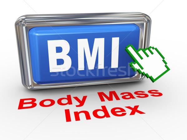 3d hand cursor bmi - body mass index Stock photo © nasirkhan
