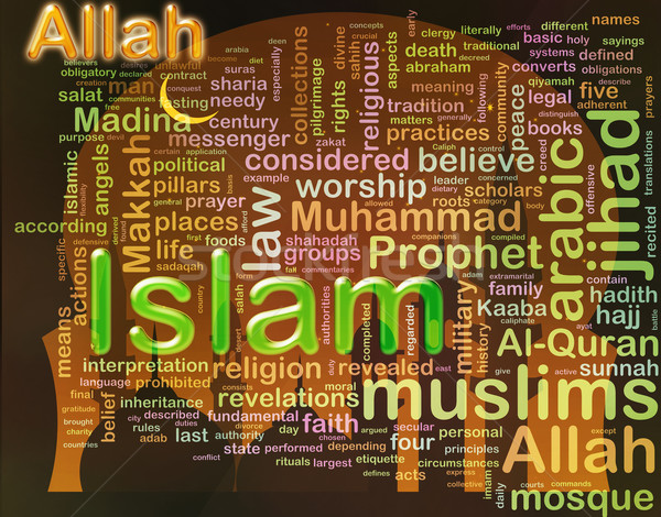 'Islam' wordcloud Stock photo © nasirkhan