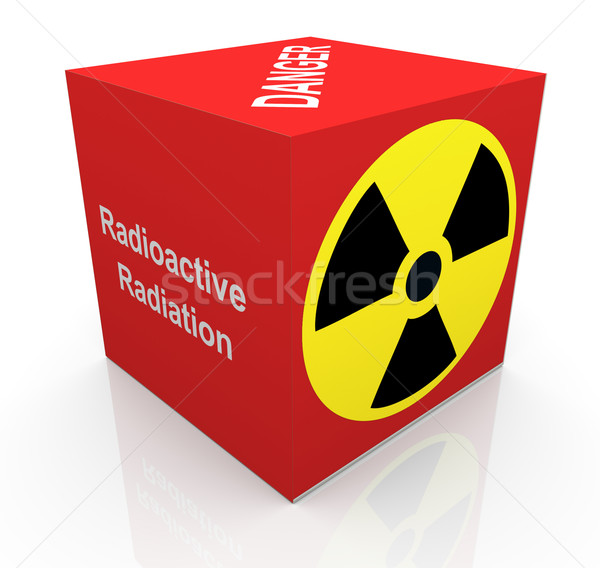 Stok fotoğraf: 3D · radyasyon · simge · 3d · render · küp · radyoaktif