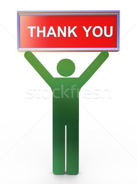 3d man thank you Stock photo © nasirkhan
