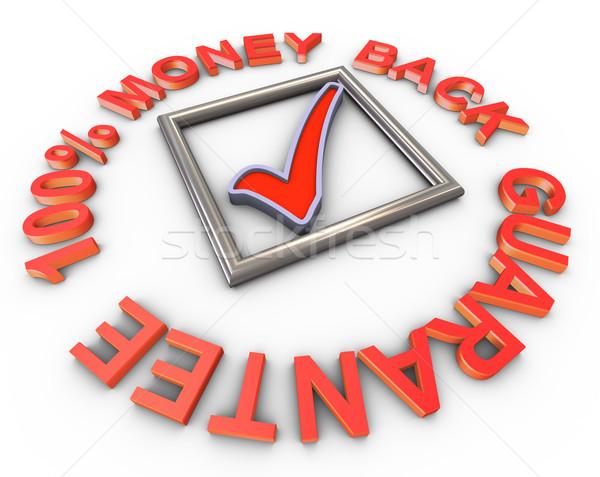 3d 100% money back guarantee Stock photo © nasirkhan