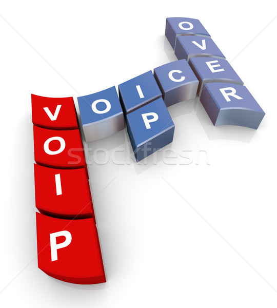 Crossword of voip Stock photo © nasirkhan