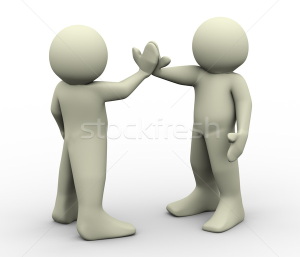3d people give me five Stock photo © nasirkhan
