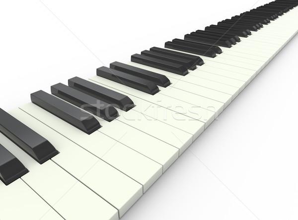 3d piano keyboard Stock photo © nasirkhan