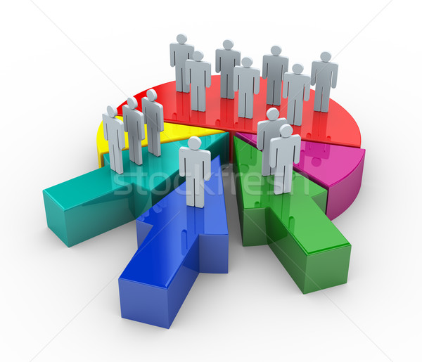 3d business merge concept Stock photo © nasirkhan