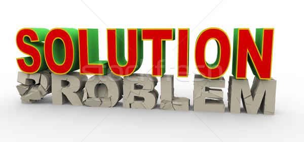 3d solution for problem Stock photo © nasirkhan