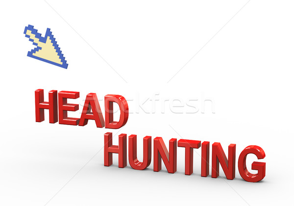 3d pointer and headhunting Stock photo © nasirkhan
