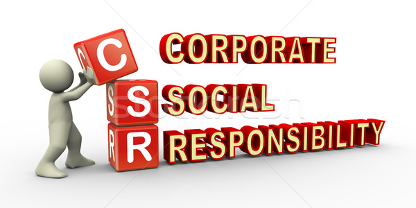3d person and csr cube Stock photo © nasirkhan