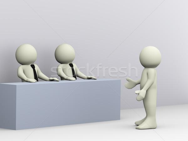 O homem 3d entrevista de emprego ilustração 3d pessoa 3D Foto stock © nasirkhan