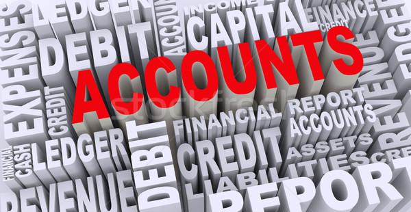 3d concept of accounts word tags Stock photo © nasirkhan