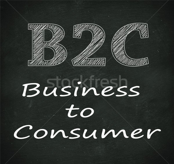Chalkboard illustration of b2c - business to consumer  Stock photo © nasirkhan