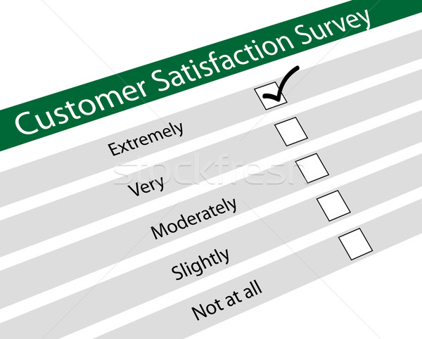 Customer satisfaction survey Stock photo © nasirkhan