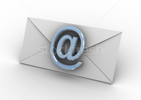 Envelope with at sign Stock photo © nasirkhan