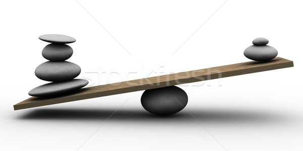 3d stones balance