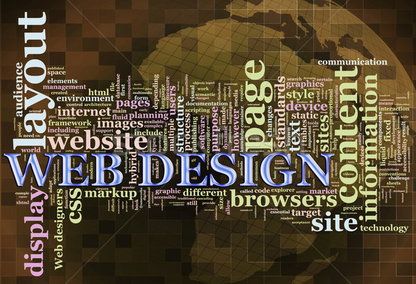 Web design illustration mot design Photo stock © nasirkhan