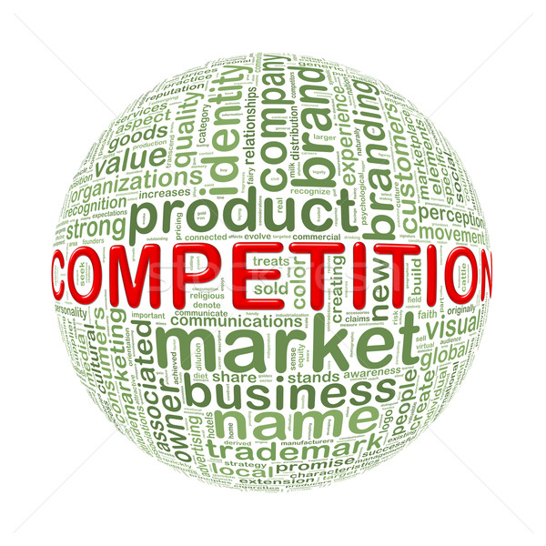 Wordcloud word tags ball of competition Stock photo © nasirkhan