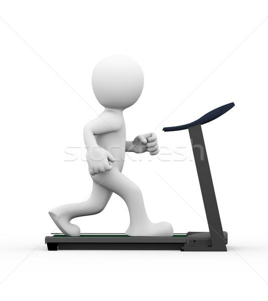 3d ember fut futópad 3D renderelt kép oldalnézet Stock fotó © nasirkhan