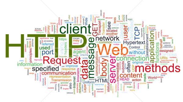 Szófelhő http hipertext átutalás protokoll szavak Stock fotó © nasirkhan