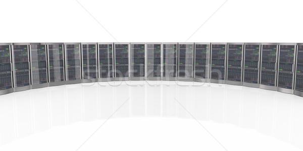 3d network computer servers in datacenter Stock photo © nasirkhan