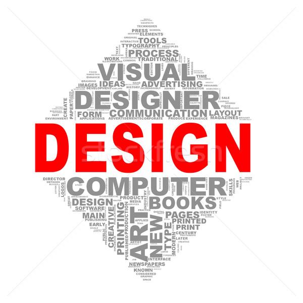 Mirror triangle design wordcloud tags design Stock photo © nasirkhan
