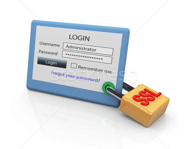 SSL Secure Login Stock photo © nasirkhan